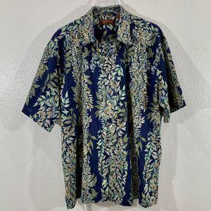 TORI RICHARD Honolulu Men's Shirt Blue SZ XL